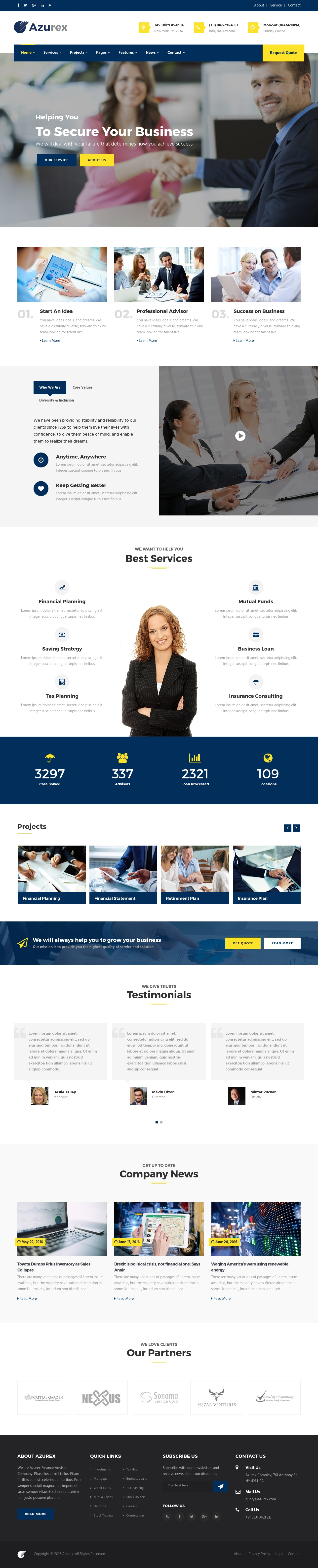 Azurex – Finance and Corporate Business HTML5 Template