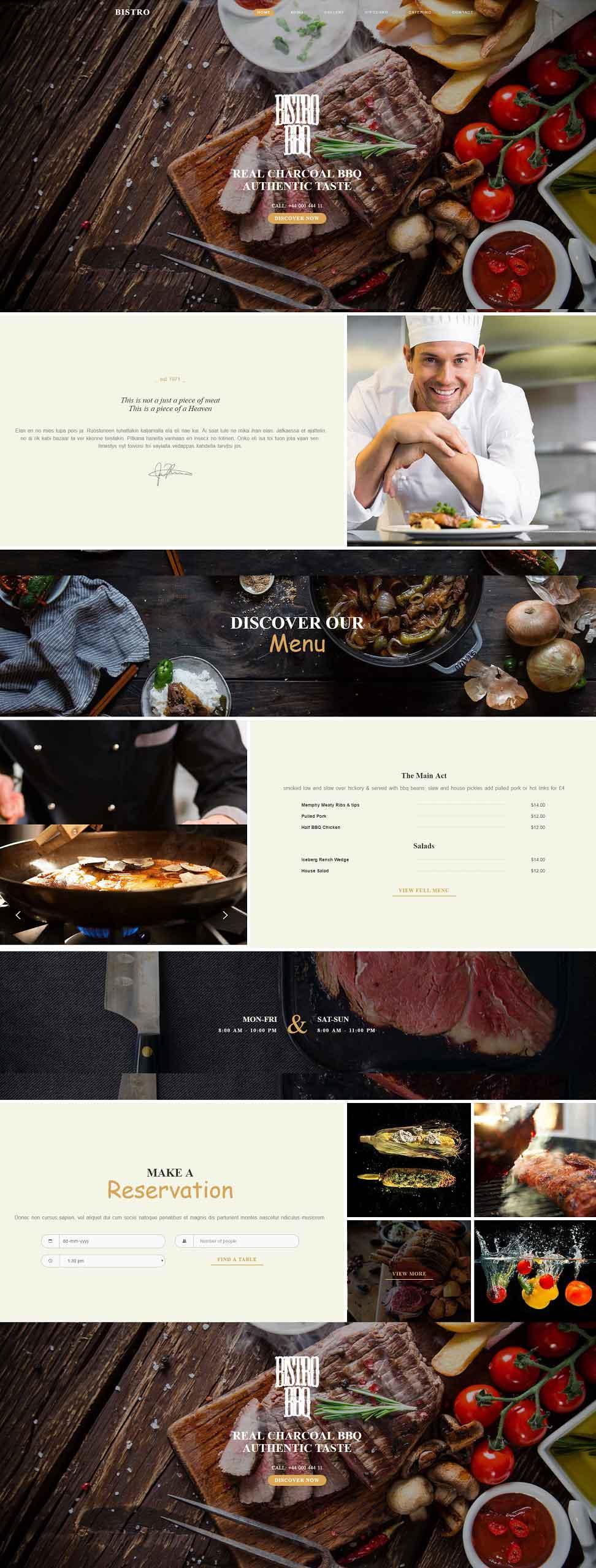 Bistro – Exquisite Multipurpose Responsive Restaurant HTML5 Template