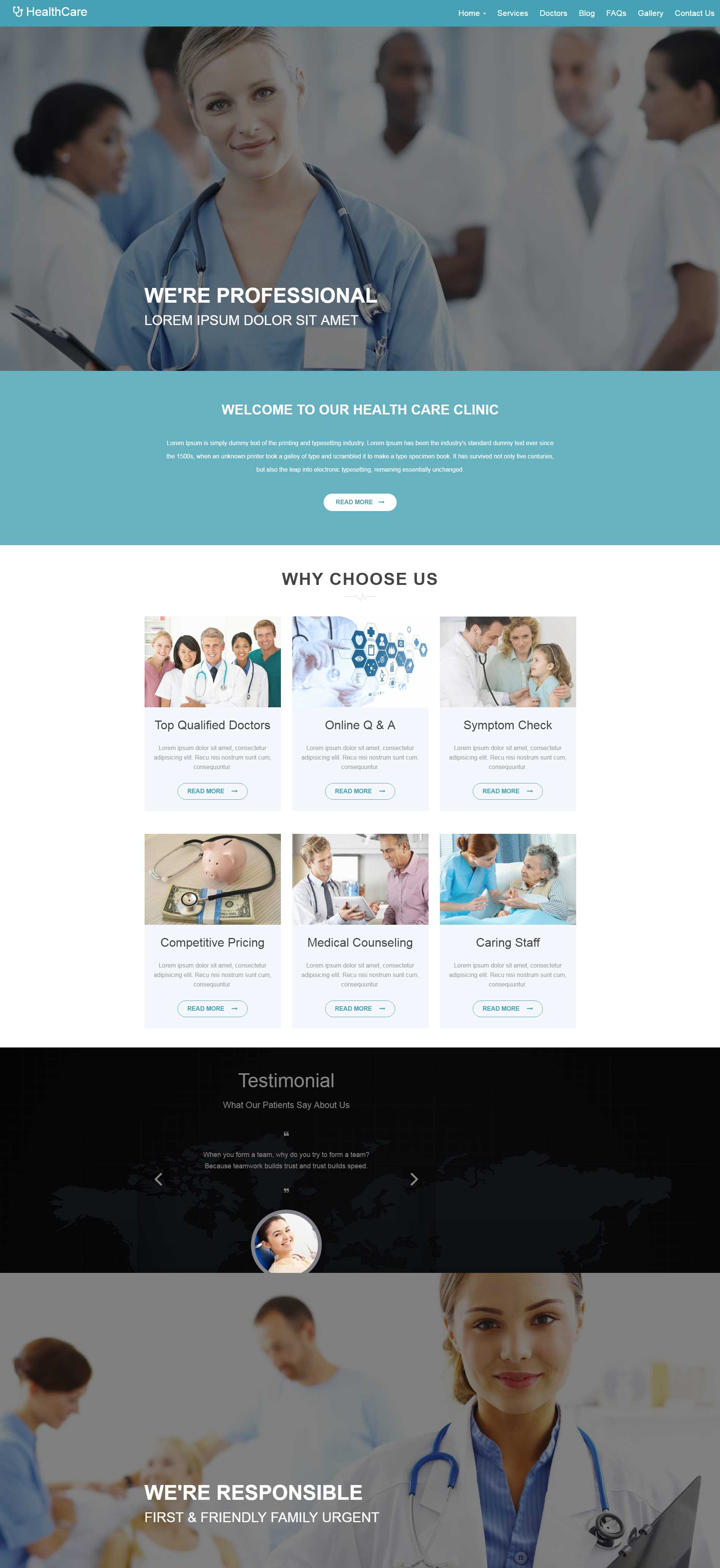 Healthcare – Medical Hospital Responsive Template