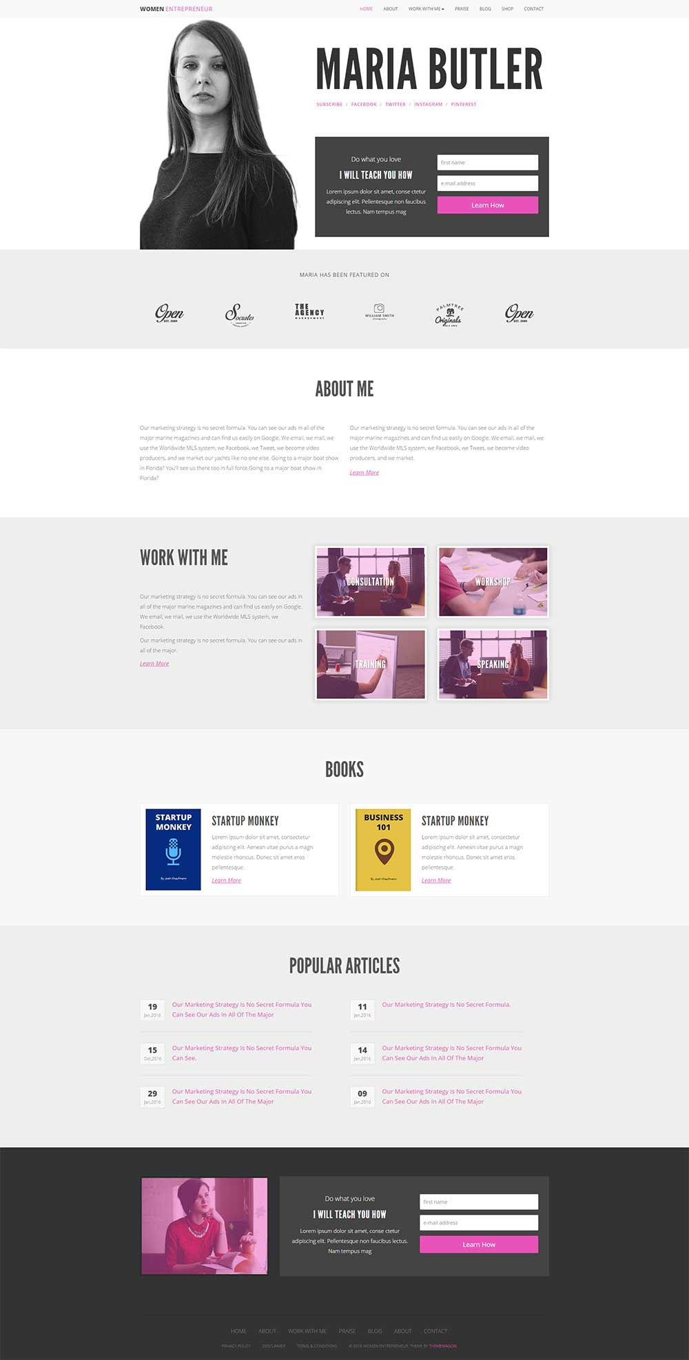 Women Entrepreneur – Ecommerce Blog Template