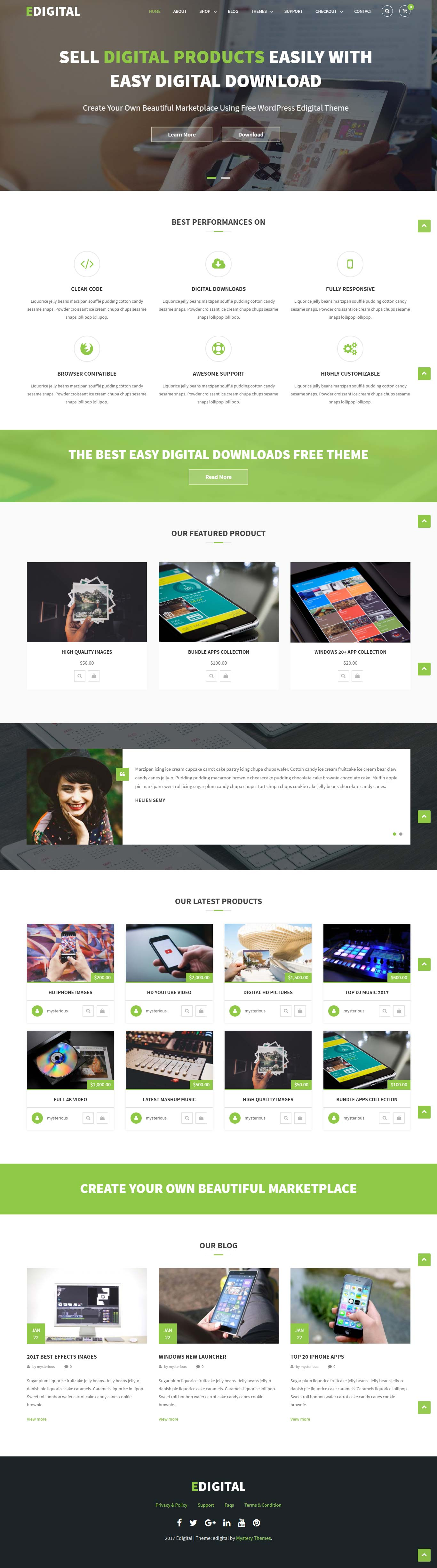 EDigital Multipurpose Free WordPress Theme