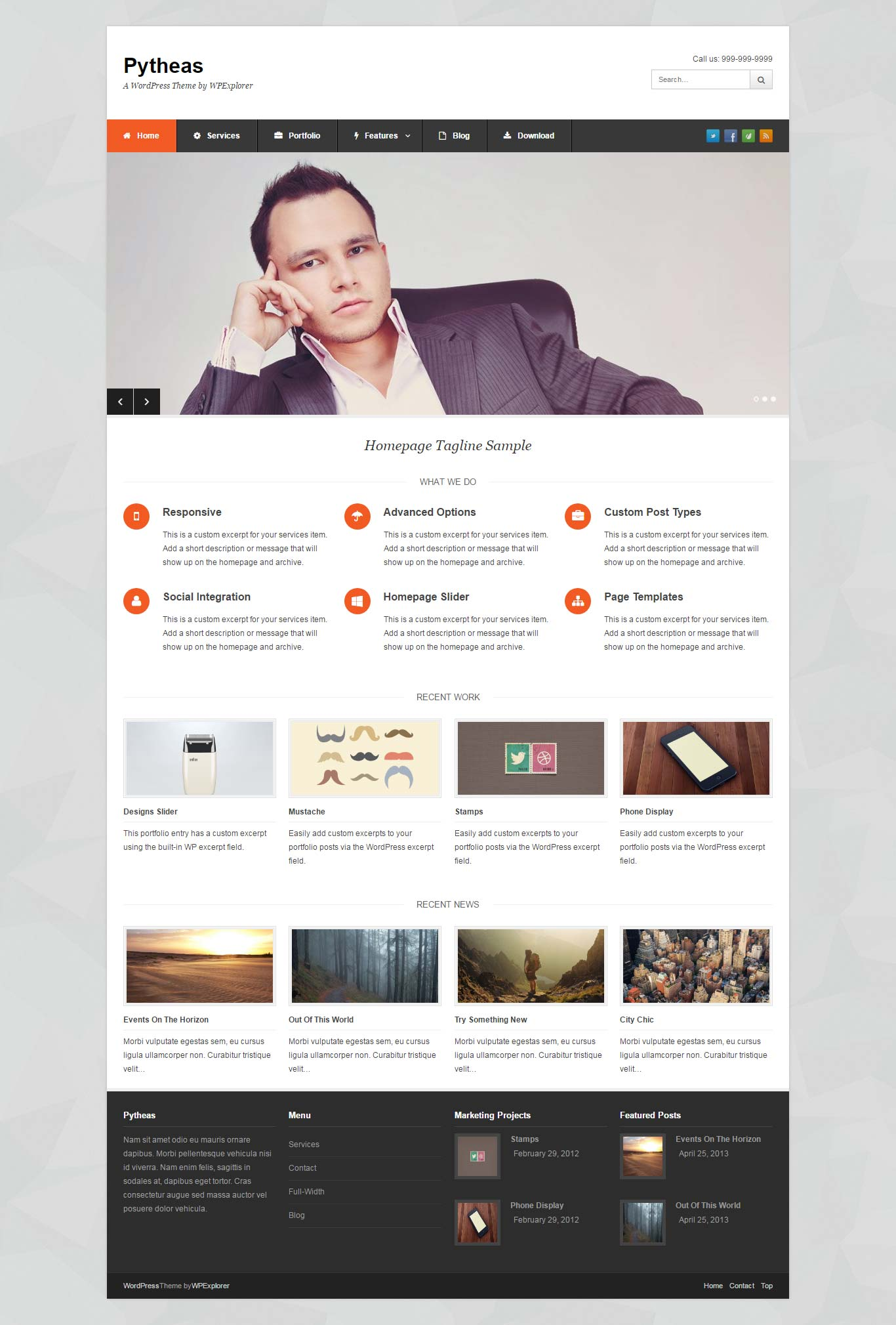 Pytheas Corporate Free Responsive WordPress Theme