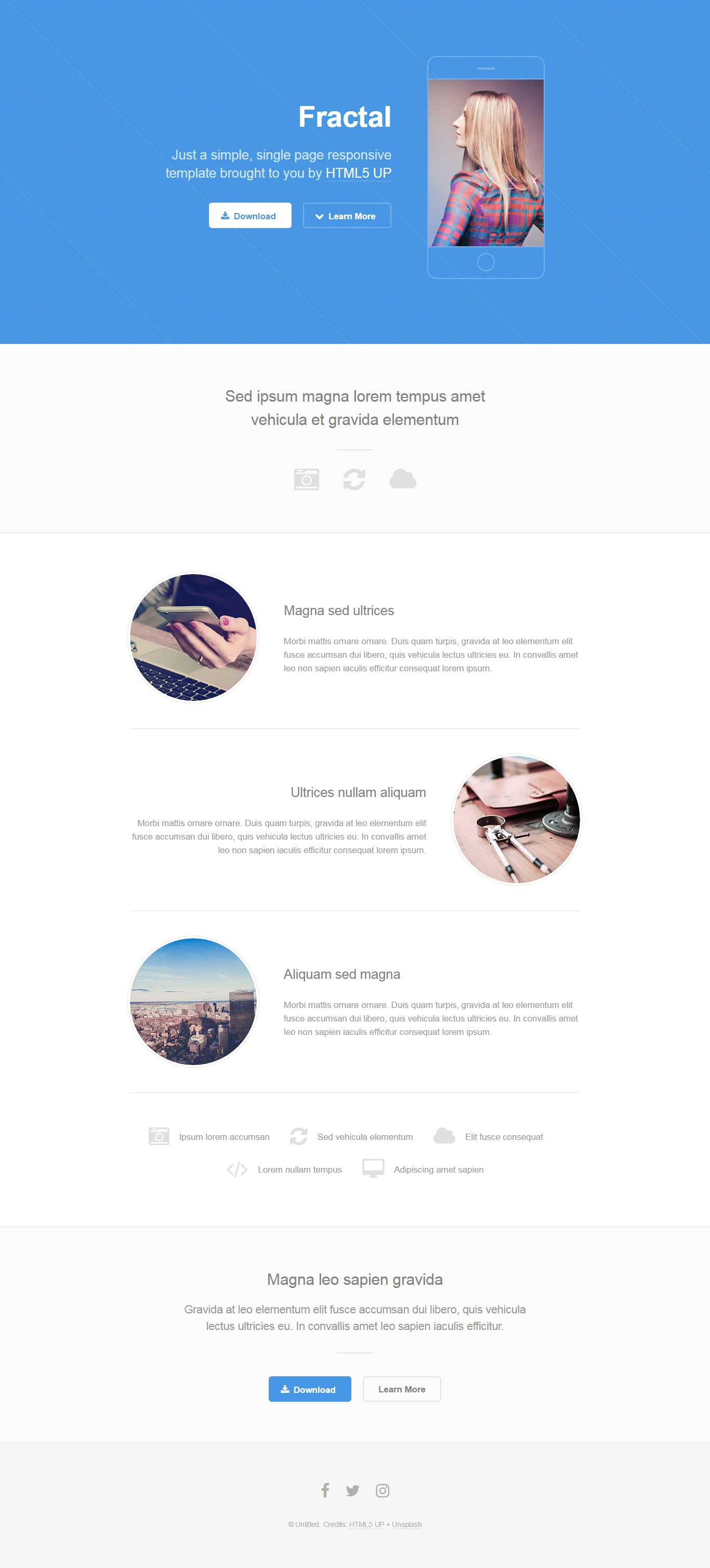 Fractal : Responsive One Page Template