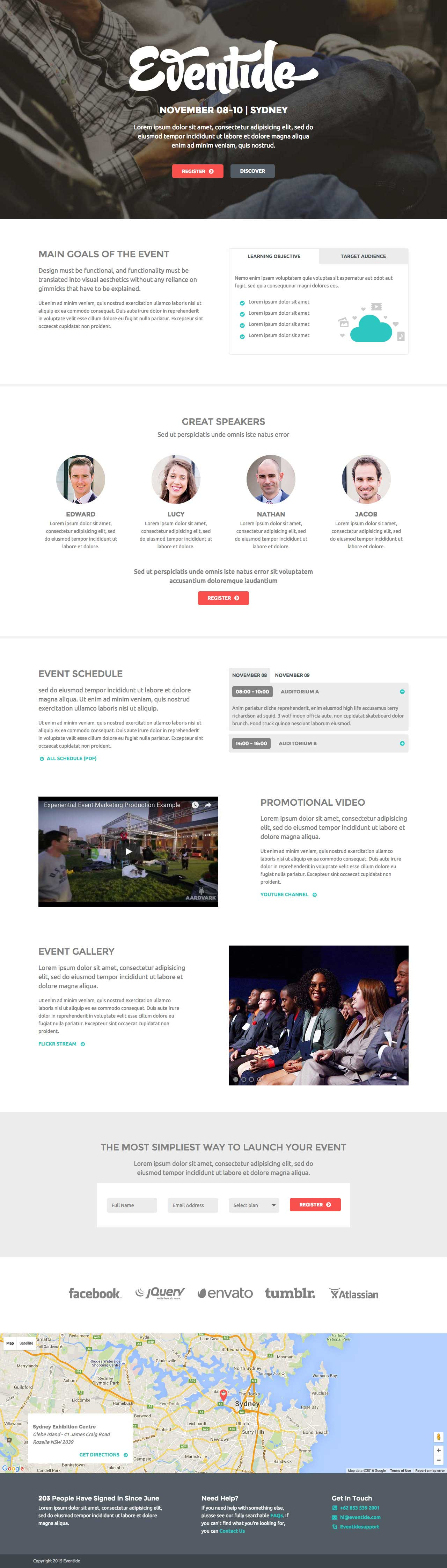Eventide Events – Free One Page HTML Template