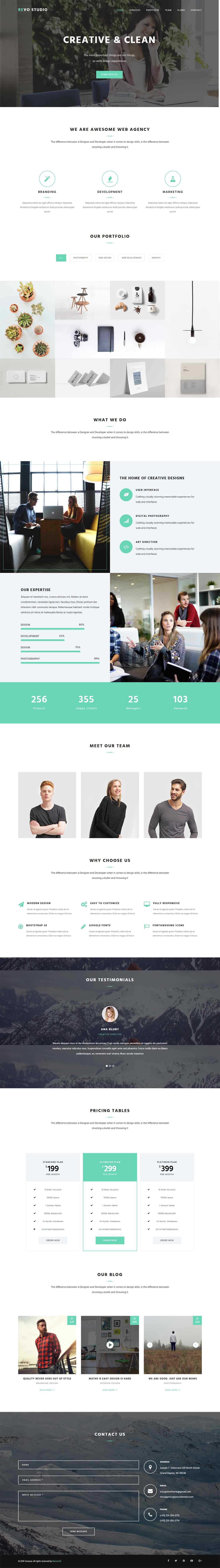 Revo Studio – Bootstrap Multipurpose Landing Page