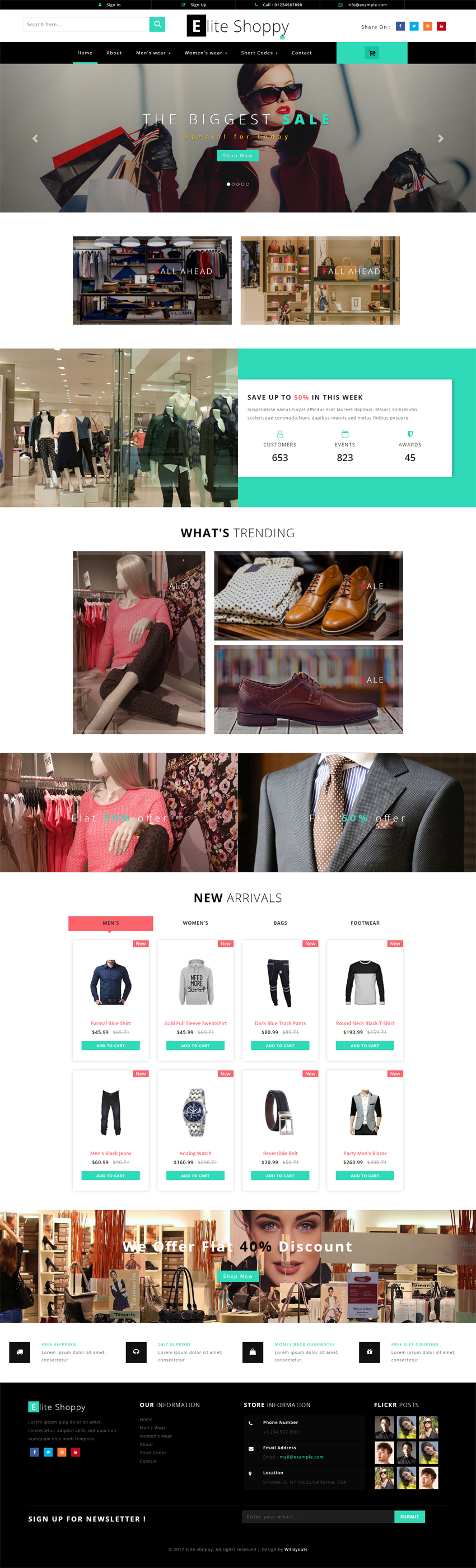 Elite Shoppy Ecommerce Bootstrap Responsive Web Template