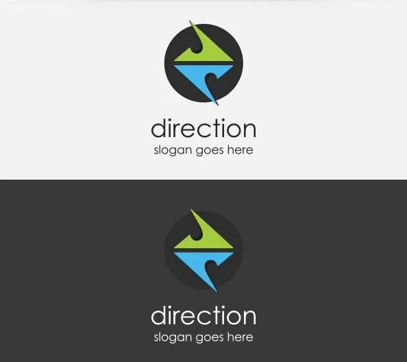 Free Logo Design Download – Direction Logo Template