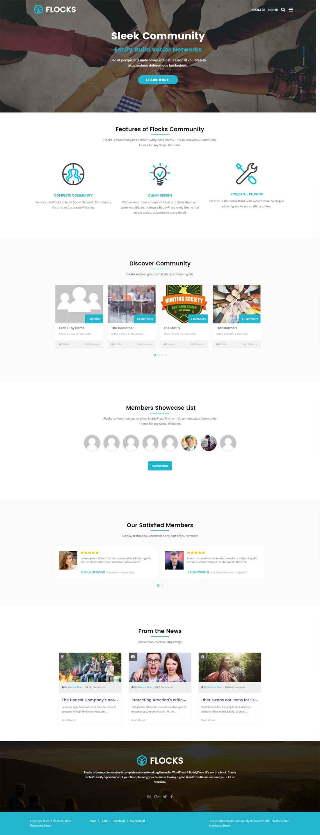 Flocks – Social Networking Business Community WordPress Theme