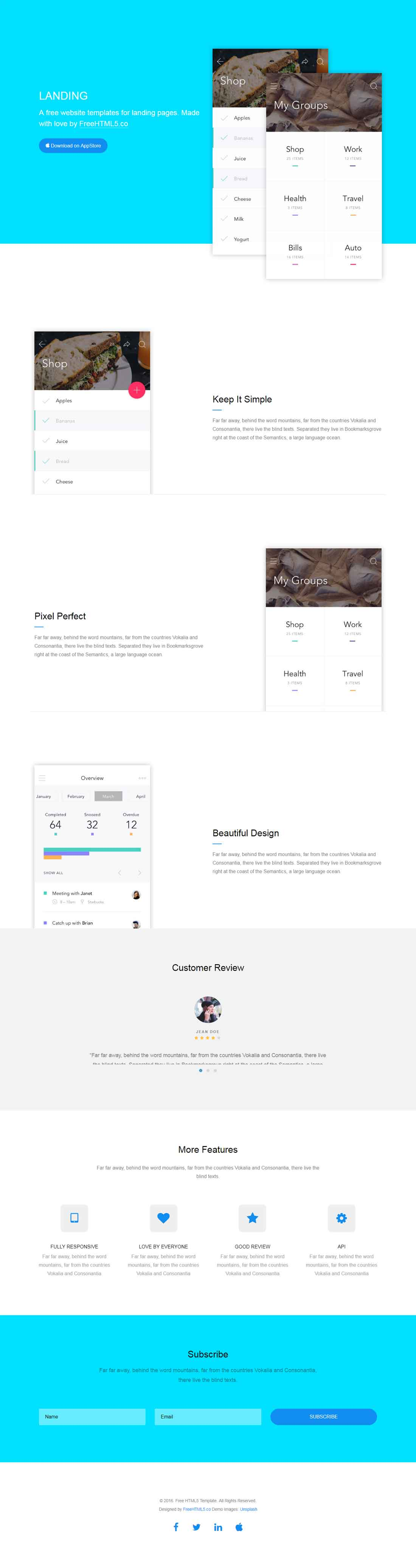 Landing Page : Free Website Template Using Bootstrap