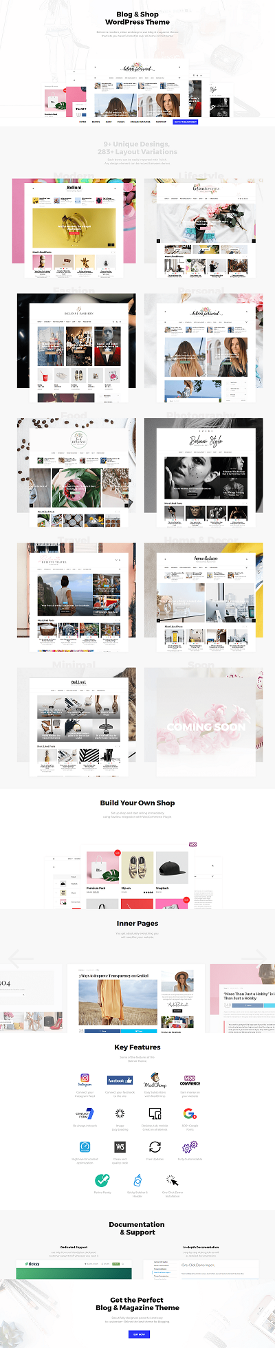 Belinni – Multi Concept Blog Magazine WordPress Theme