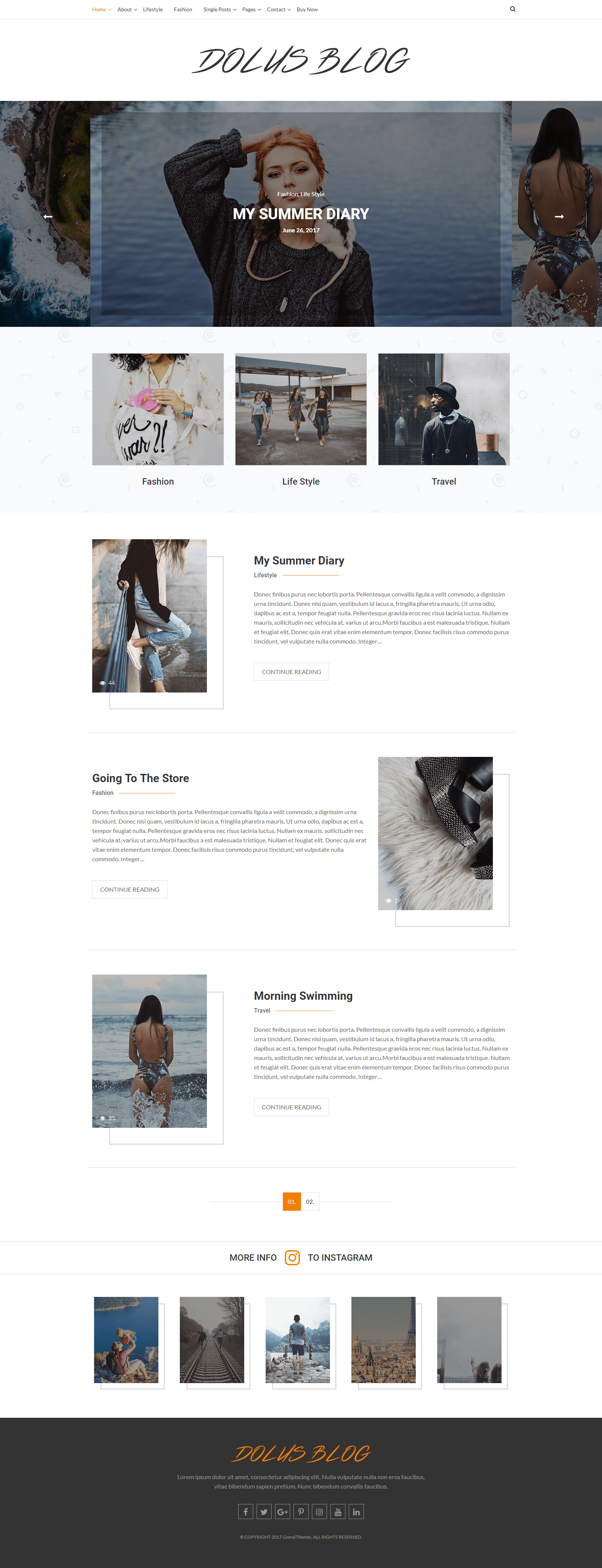 Dolus – Best Personal Blog WordPress Themes for blogger websites