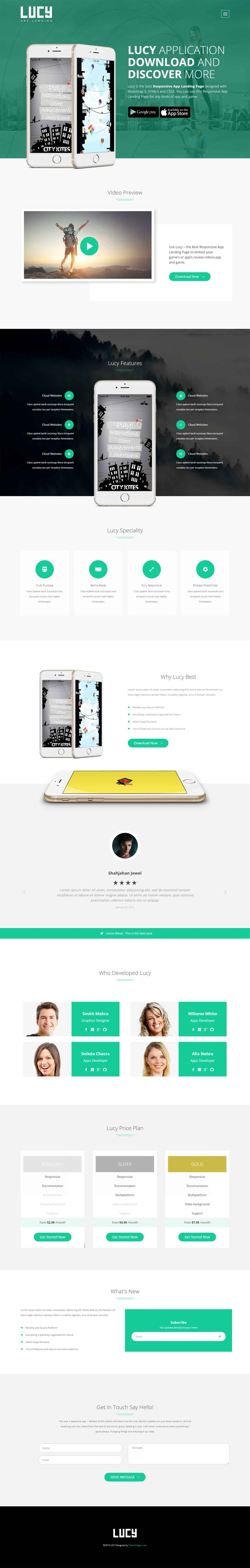 Lucy Pro – Premium Quality App Landing HTML5 Template