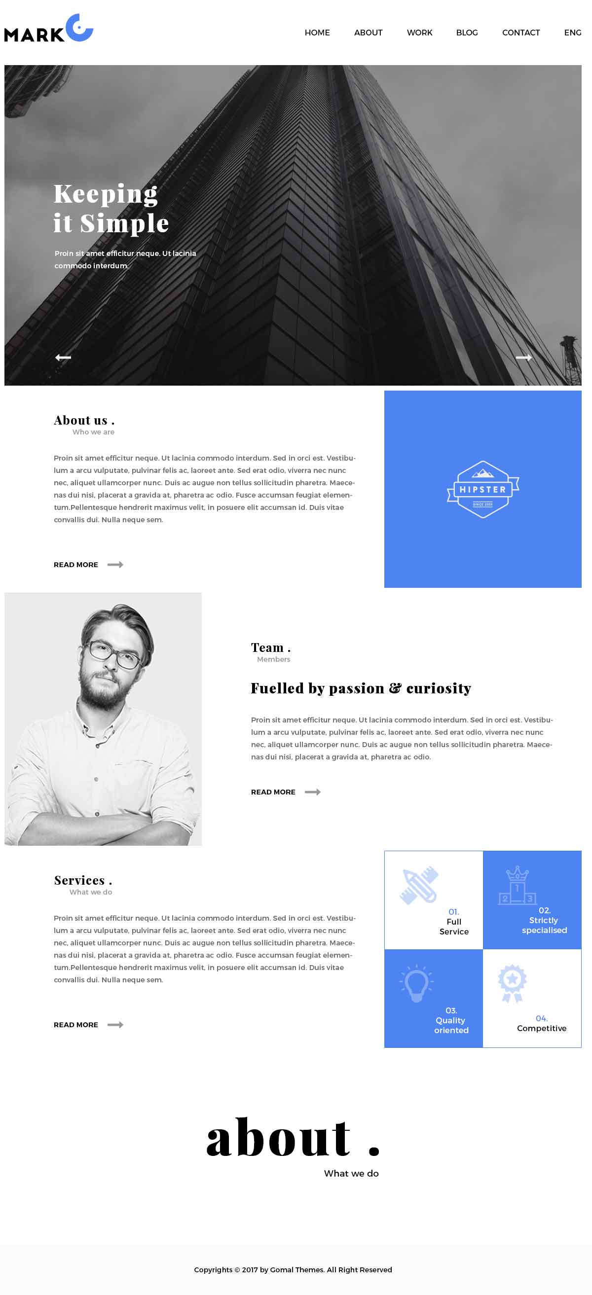 MarkO Layouts  – Creative Agency Portfolio PSD Template