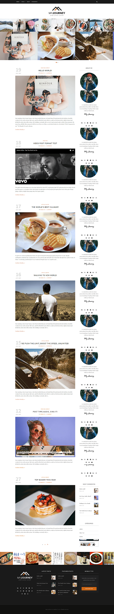 My Journey – Personal latest WordPress Blog Themes