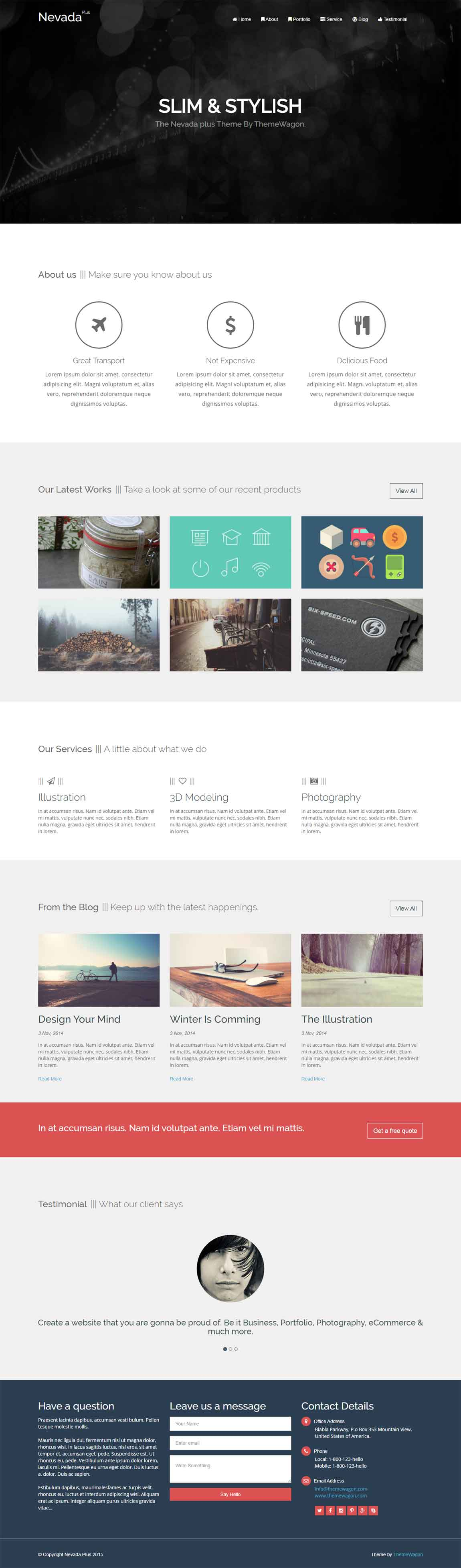 Nevada Plus Pro – Responsive HTML5 Bootstrap Agency Template