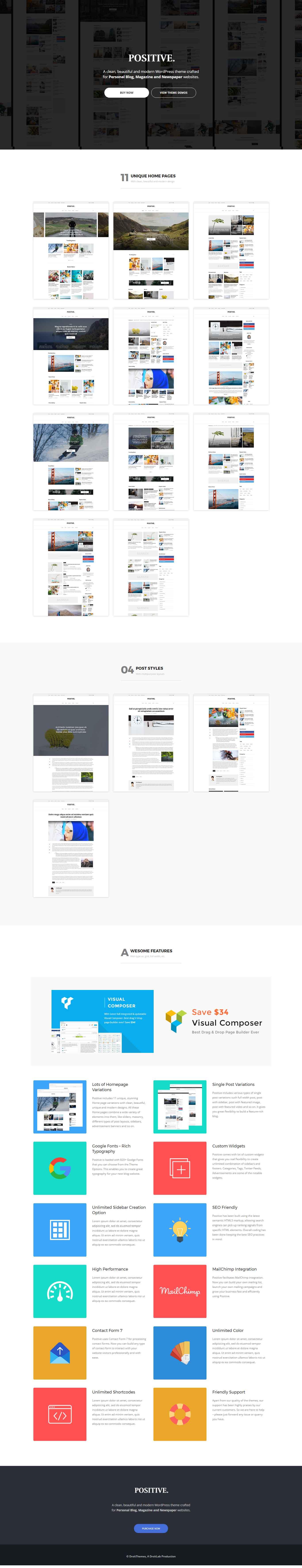Positive – Blog, News, Responsive Magazine WordPress Theme