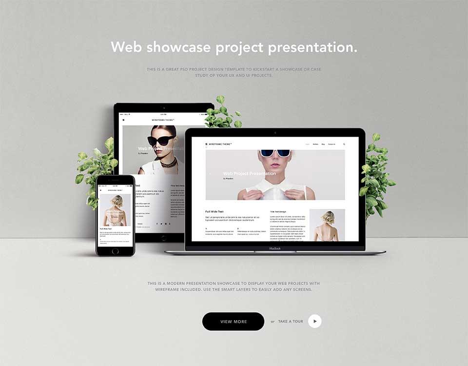 Elegant Website Showcase Portfolio Psd Template
