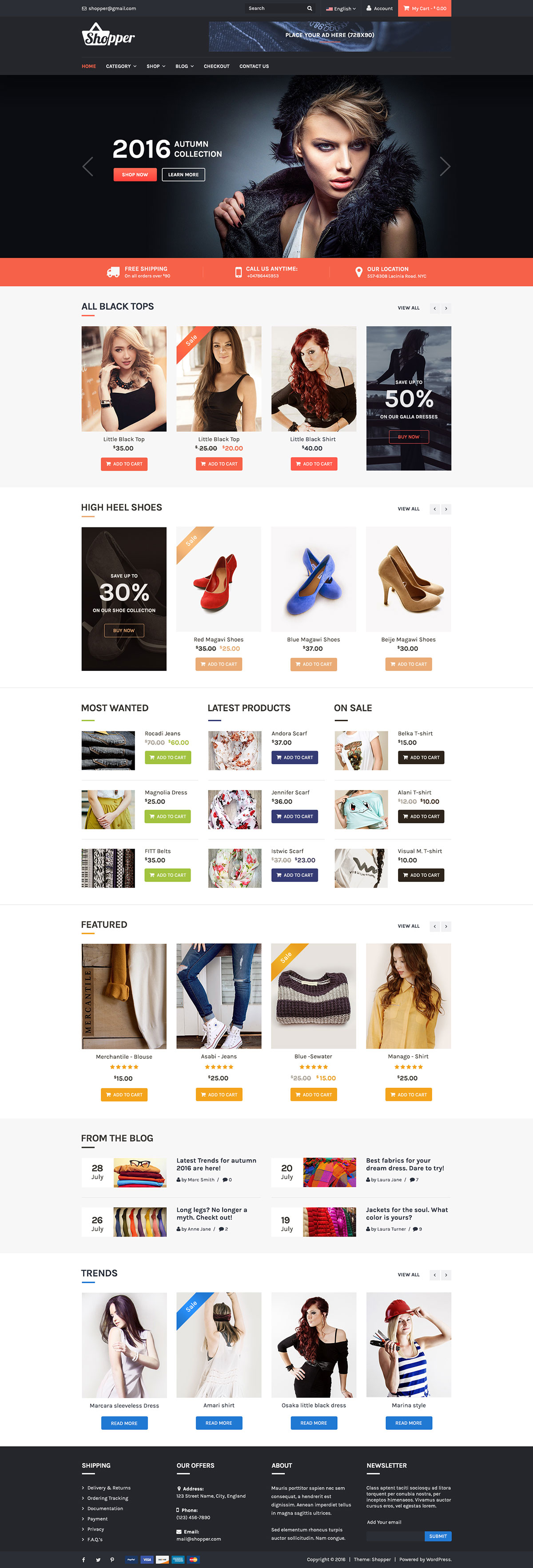 Tyche – Free eCommerce WordPress Theme