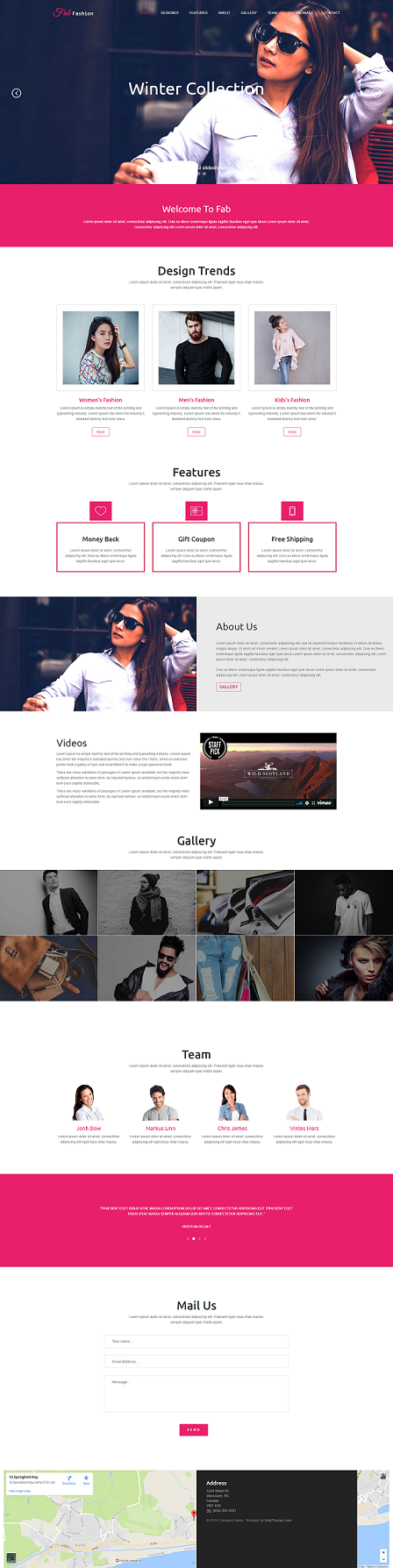 Fashion Responsive Trendy HTML5 Website Template