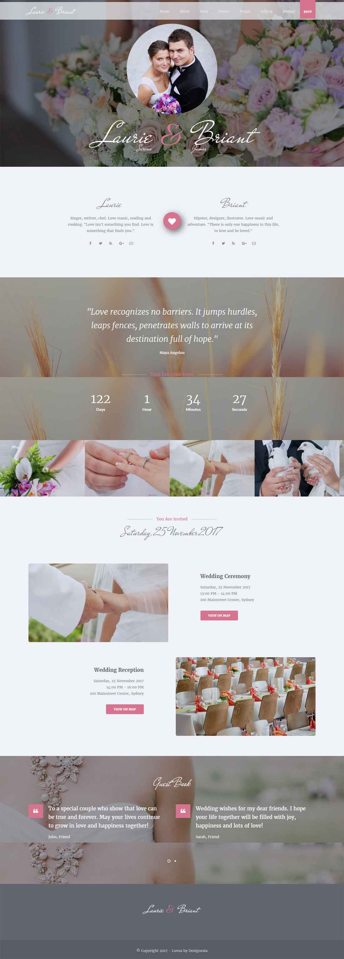 Lovus – Wedding Responsive HTML 5 Website Template