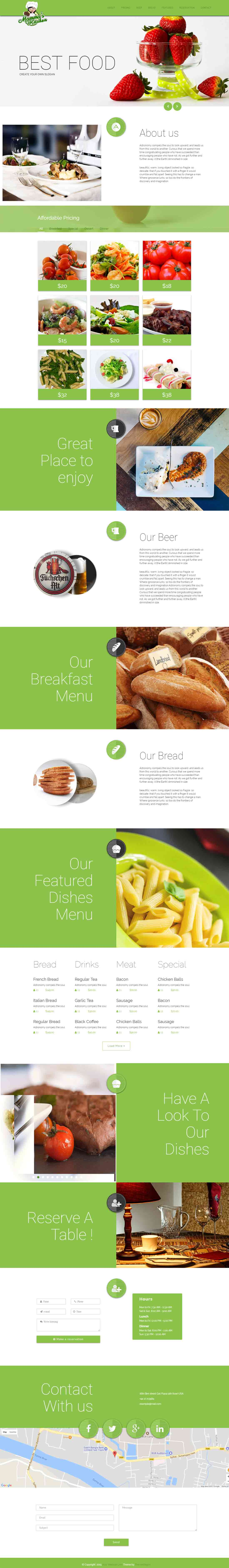 Mammas Kitchen Pro – Elegant Restaurant Website Template