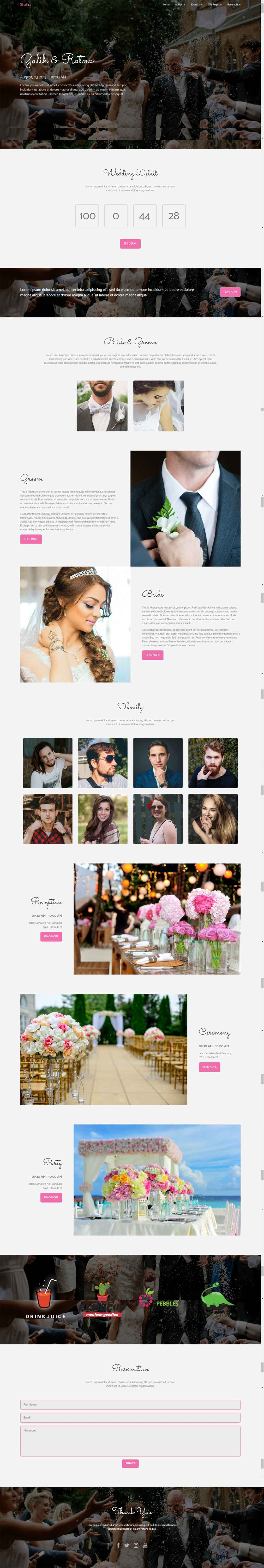 Shafira Fully Responsive Wedding HTML Template