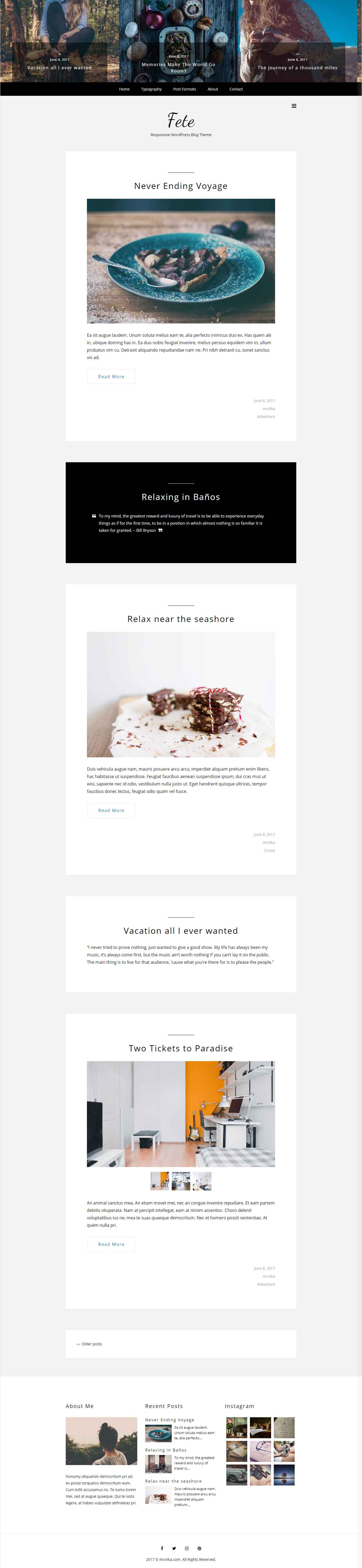 Fete – Bootstrap Responsive WordPress Blog Theme