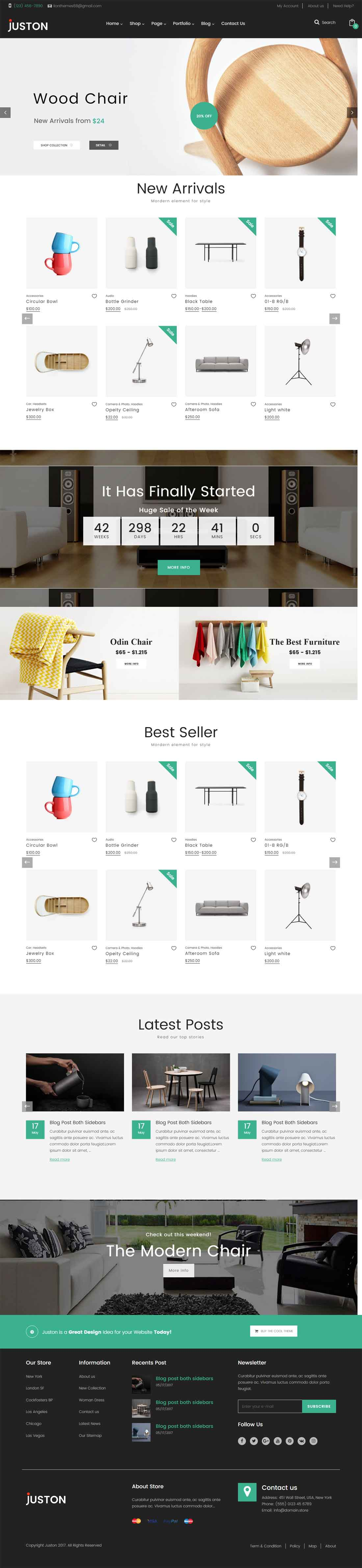 Juston – Furniture WooCommerce Responsive Theme