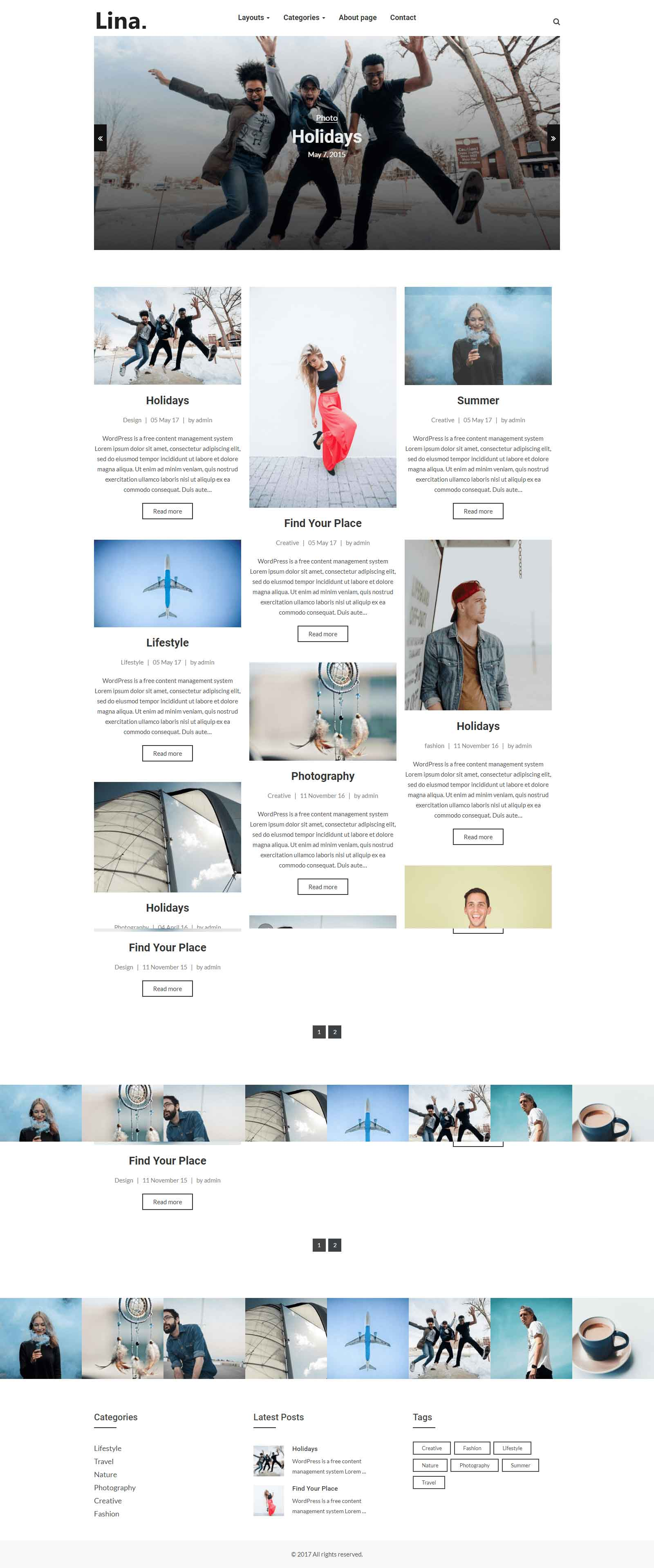 Lina – Excellent Responsive WordPress Blog Theme