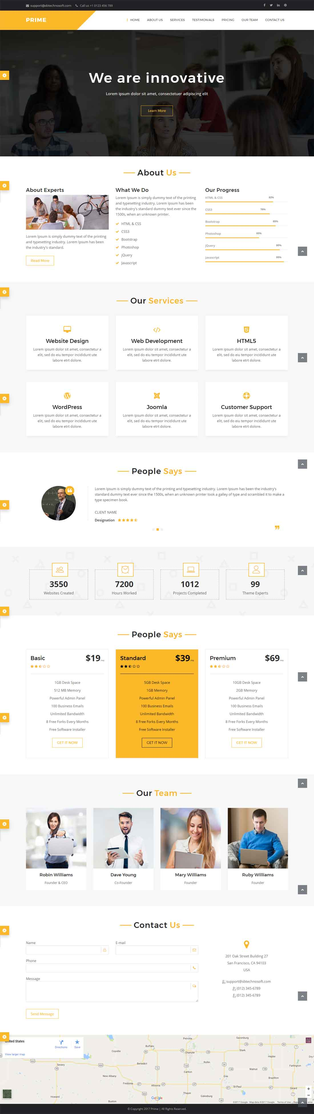 Prime – One Page Business Responsive HTML Template