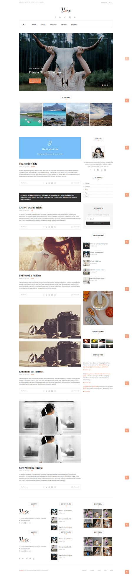 Voix – Personal WordPress Blog Themes for Storytellers