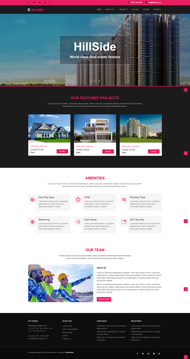Real Estate Landing Page Responsive Website Template