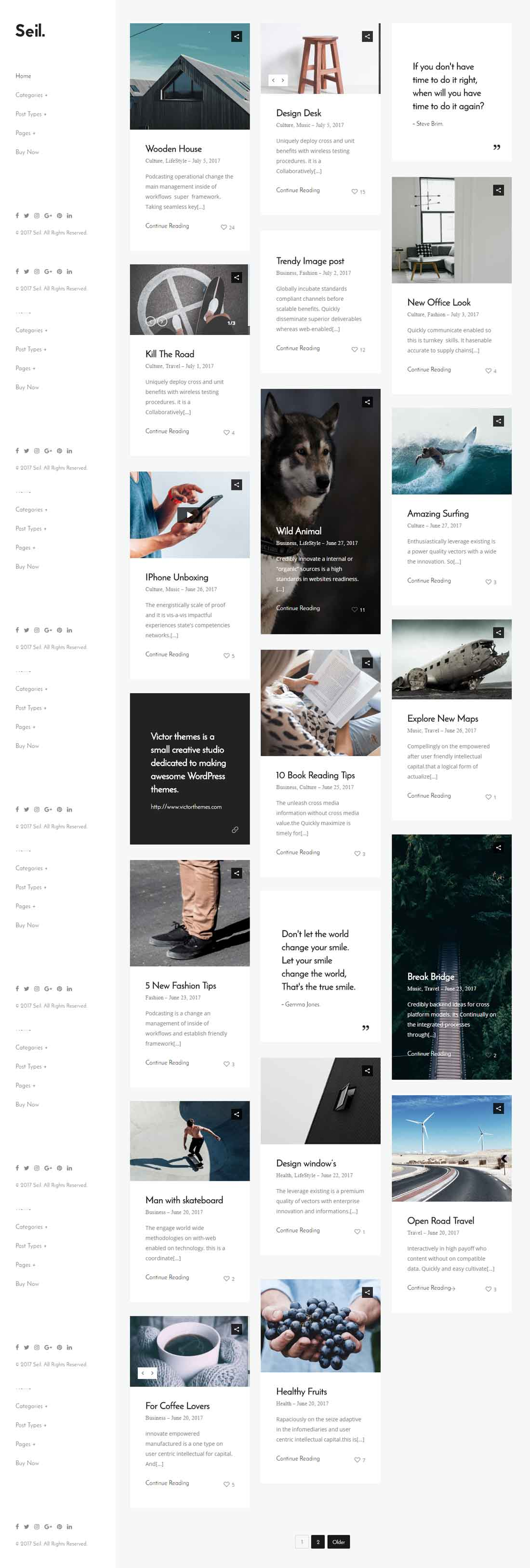 Seil – A Creative Responsive WordPress Blog Theme