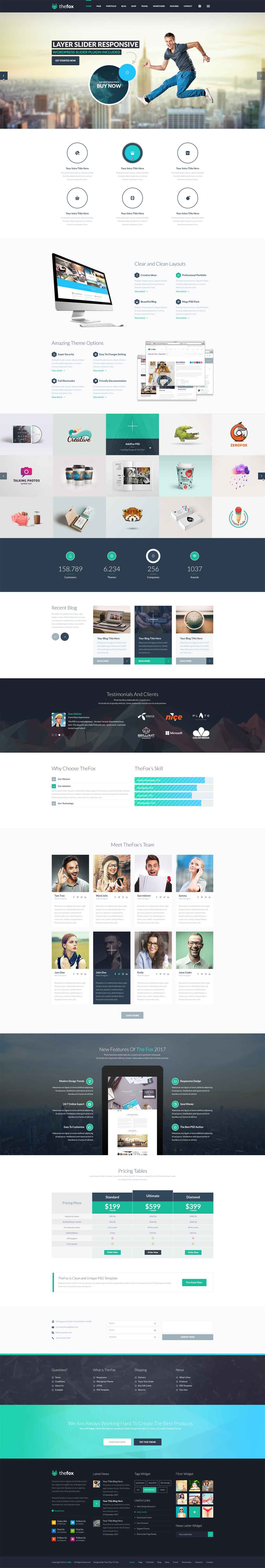 TheFox | Perfect Ultimate Multi-Purpose PSD Template