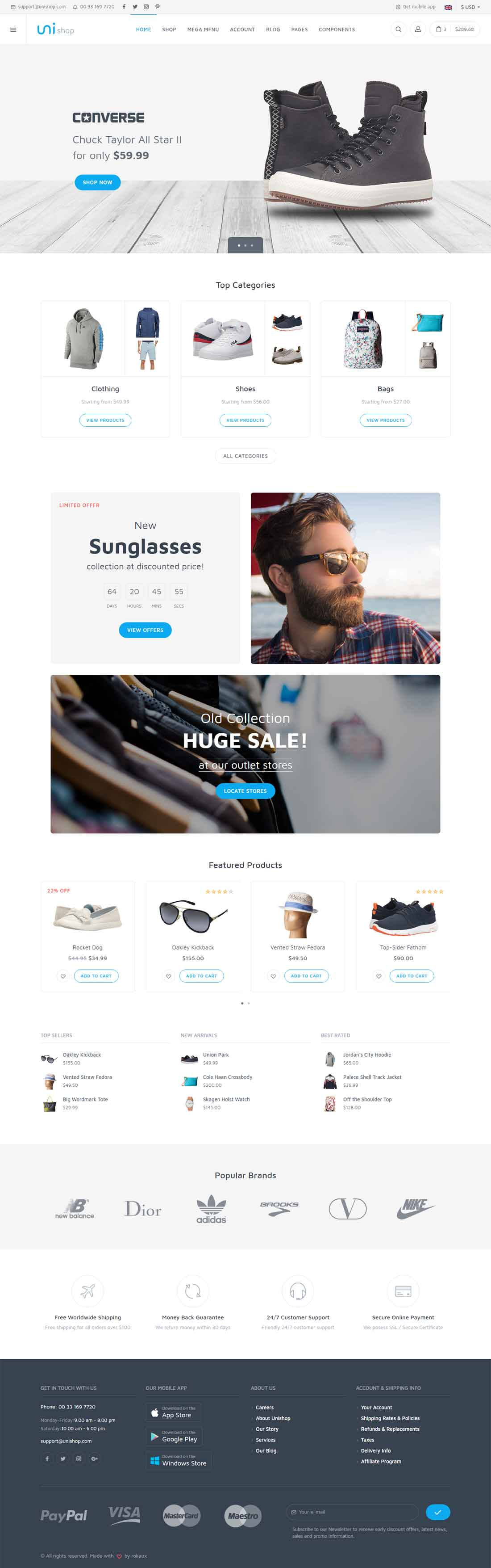 Unishop – Universal Multipurpose E-Commerce Template
