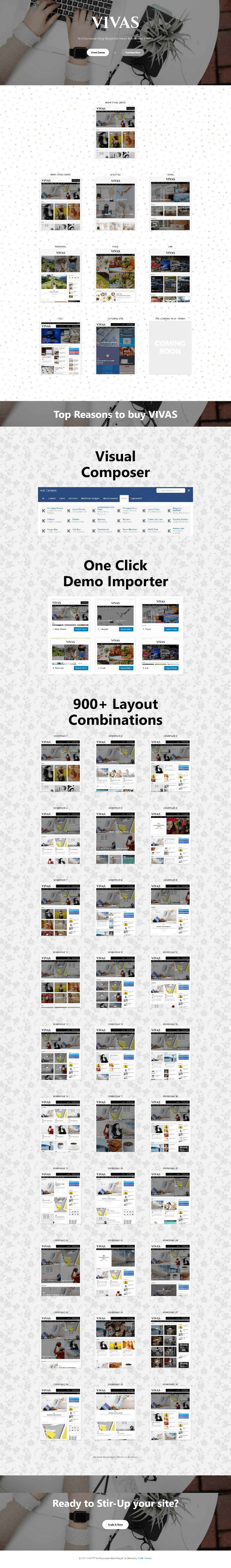 VIVAS Multipurpose Blog Magazine WordPress Theme