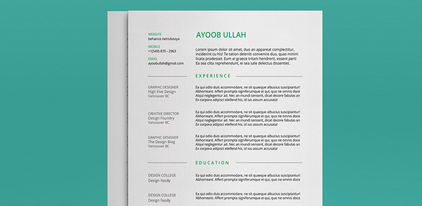 40   best free resume psd mockup templates 2017
