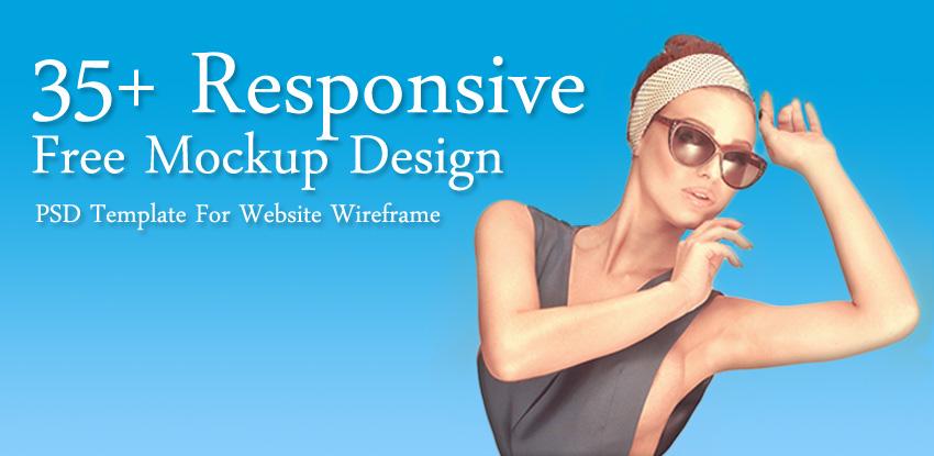 35+ Responsive Free Mockup Design PSD Template
