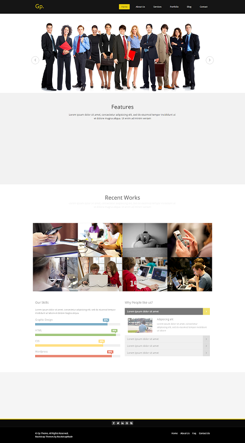 Free MultiPurpose HTML Bootstrap Template | Templatedrive