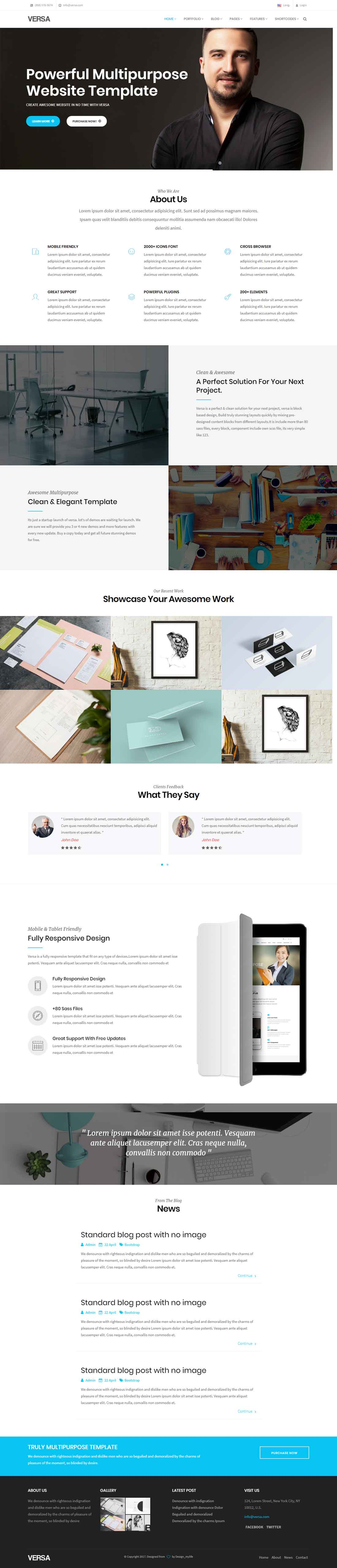 Versa – HTML5 Powerful Multipurpose Website Template