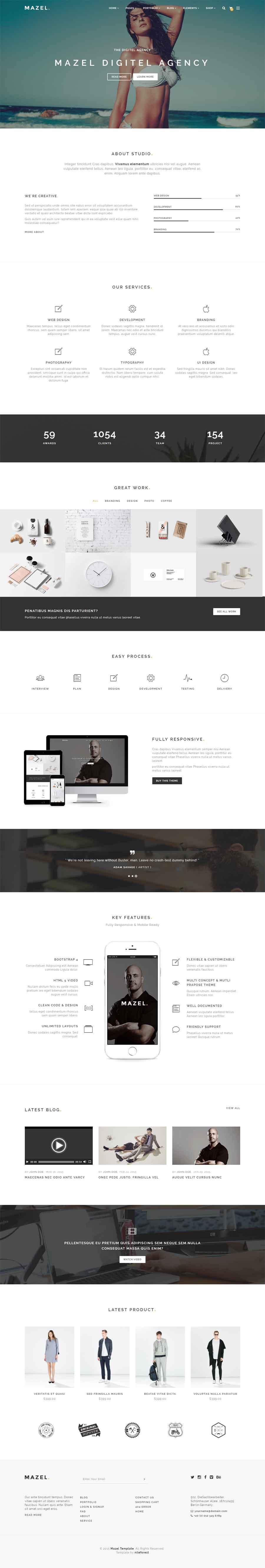 Mazel – MultiPurpose Bootstrap 4 Theme