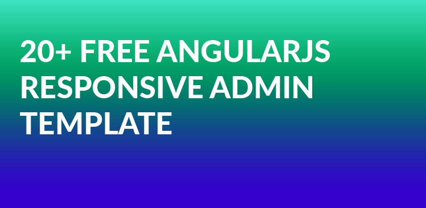 angularjs admin template open source free download