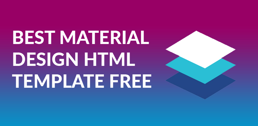 Best Free Material Design Html Templates 2018