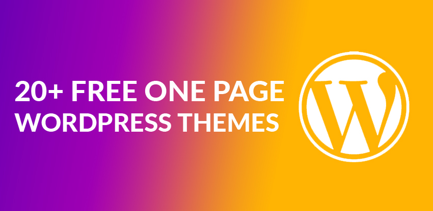 20+ Best Free One Page WordPress Themes & Templates