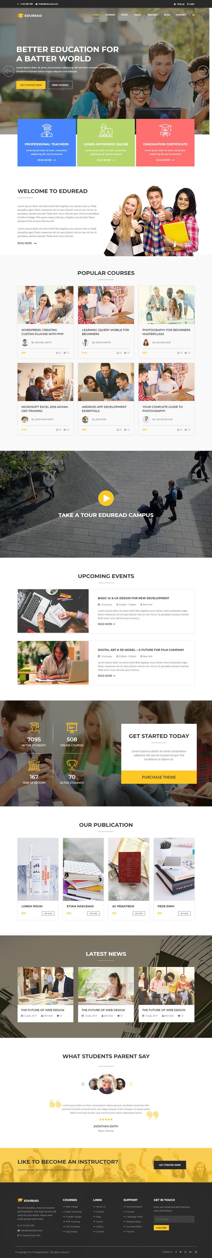 EduRead – Education HTML5 Bootstrap Template