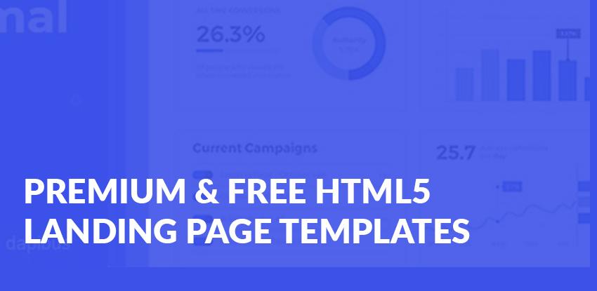 40+ Premium & Free Html5 Landing Page Templates