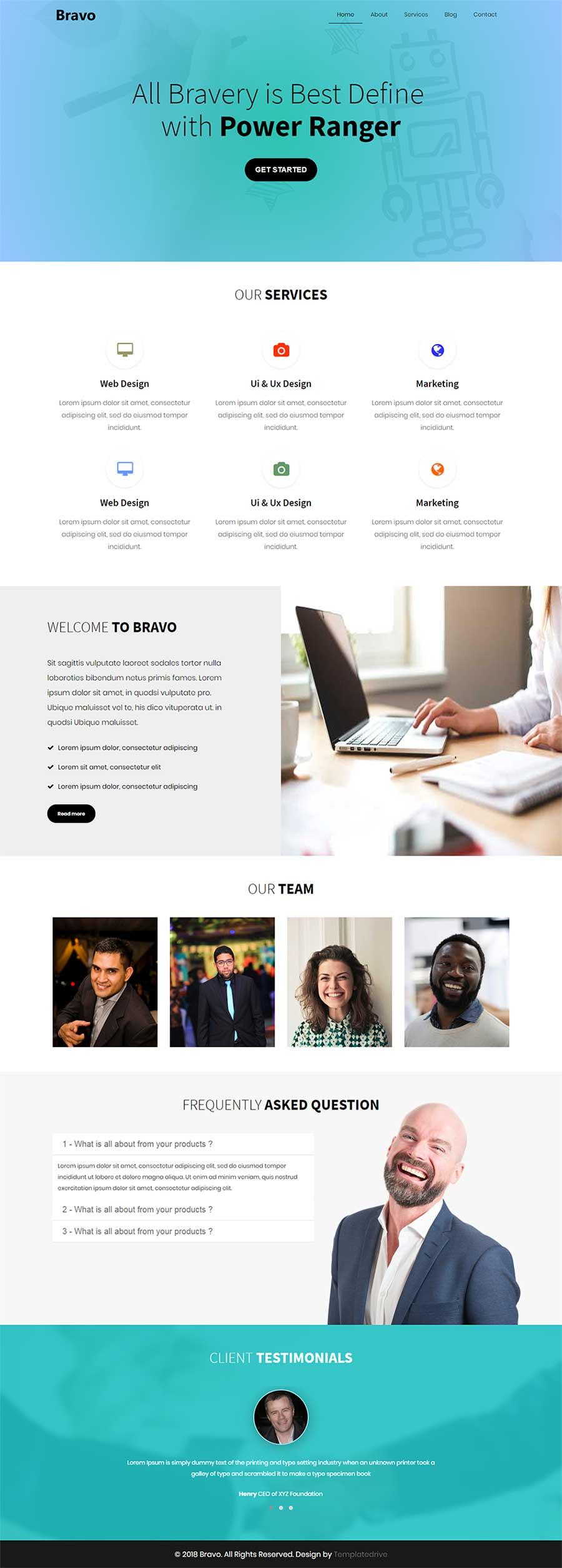 Bravo Modern Html 5 Bootstrap Website Template