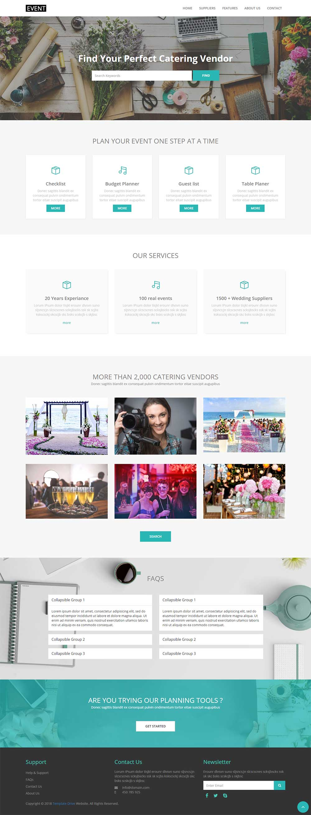 Event Bootstrap 3 Html 5 Responsive Theme